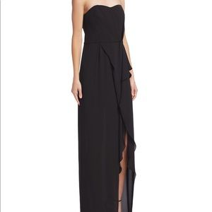 Halston Heritage Black strapless Strapless dress